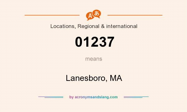 What does 01237 mean? It stands for Lanesboro, MA