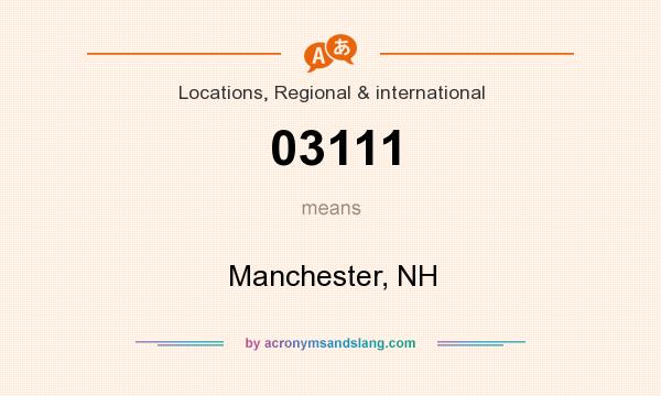What does 03111 mean? It stands for Manchester, NH