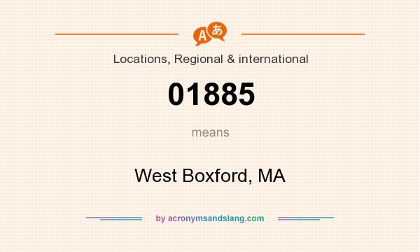 What does 01885 mean? It stands for West Boxford, MA