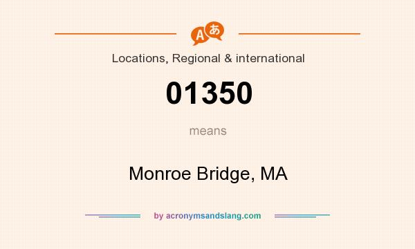 What does 01350 mean? It stands for Monroe Bridge, MA