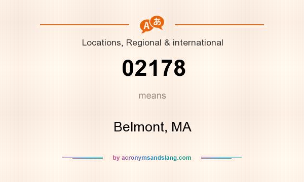 What does 02178 mean? It stands for Belmont, MA