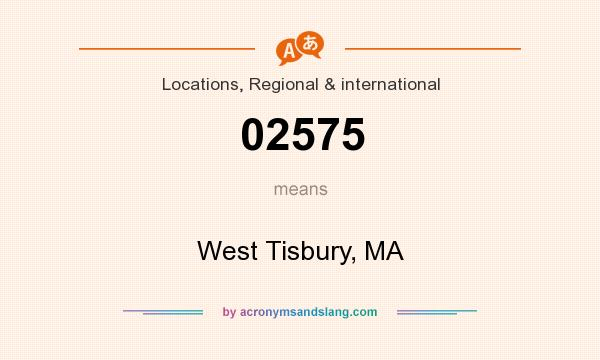 What does 02575 mean? It stands for West Tisbury, MA