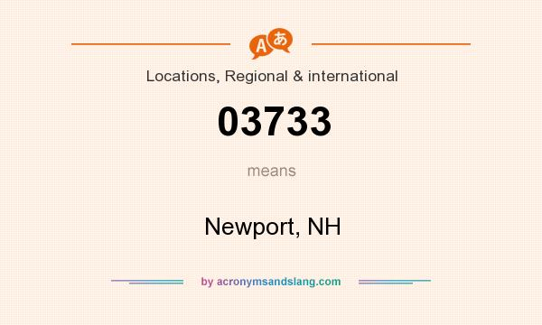 What does 03733 mean? It stands for Newport, NH