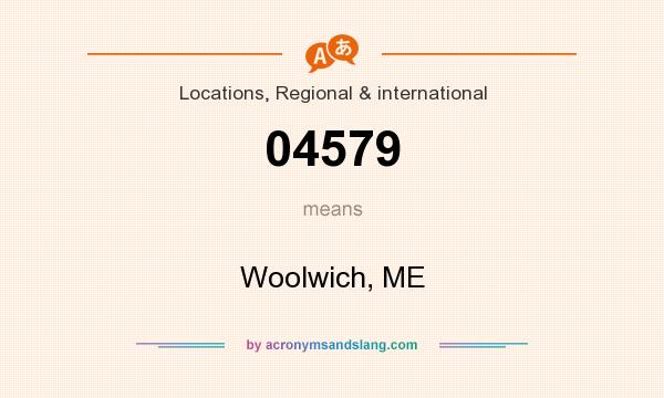 What does 04579 mean? It stands for Woolwich, ME
