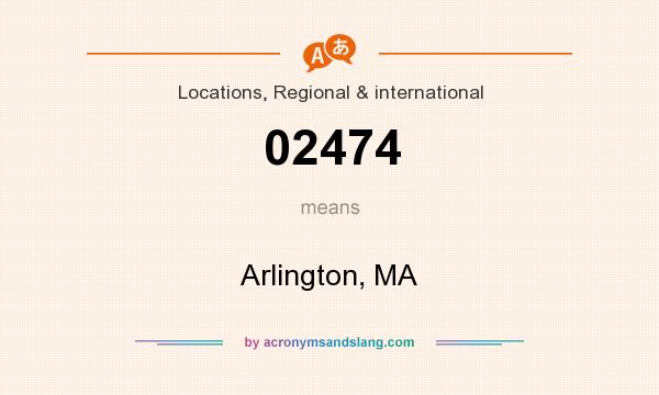 What does 02474 mean? It stands for Arlington, MA