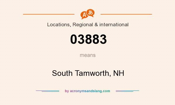 What does 03883 mean? It stands for South Tamworth, NH
