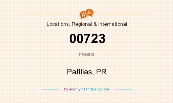 What does 00723 mean? It stands for Patillas, PR