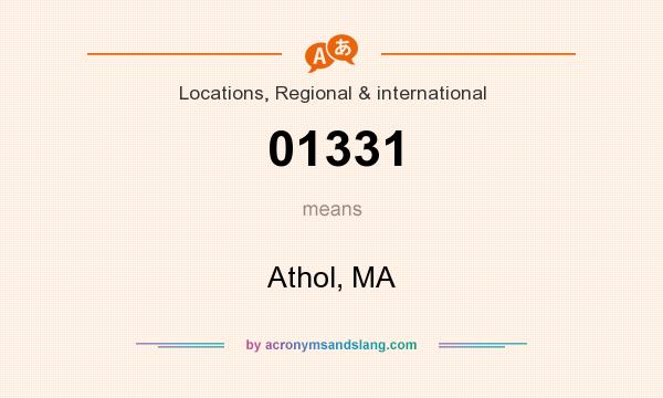 What does 01331 mean? It stands for Athol, MA