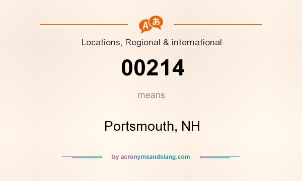 What does 00214 mean? It stands for Portsmouth, NH
