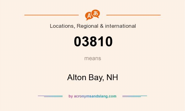 What does 03810 mean? It stands for Alton Bay, NH