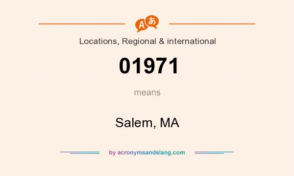 What does 01971 mean? It stands for Salem, MA