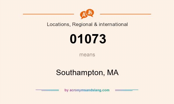 What does 01073 mean? It stands for Southampton, MA
