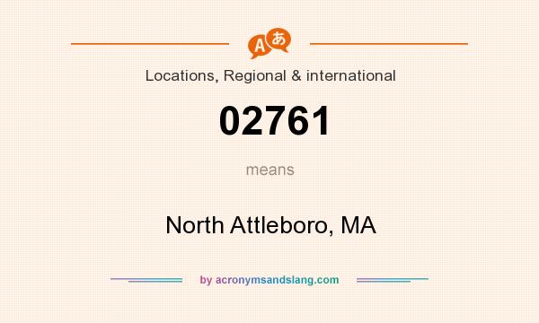 What does 02761 mean? It stands for North Attleboro, MA