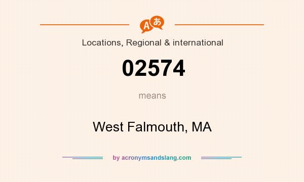 What does 02574 mean? It stands for West Falmouth, MA