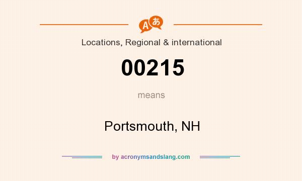 What does 00215 mean? It stands for Portsmouth, NH