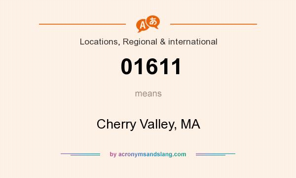 What does 01611 mean? It stands for Cherry Valley, MA
