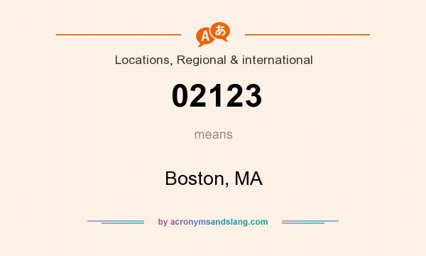 What does 02123 mean? It stands for Boston, MA