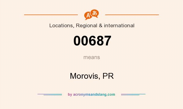 What does 00687 mean? It stands for Morovis, PR