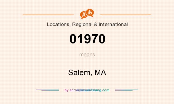 What does 01970 mean? It stands for Salem, MA