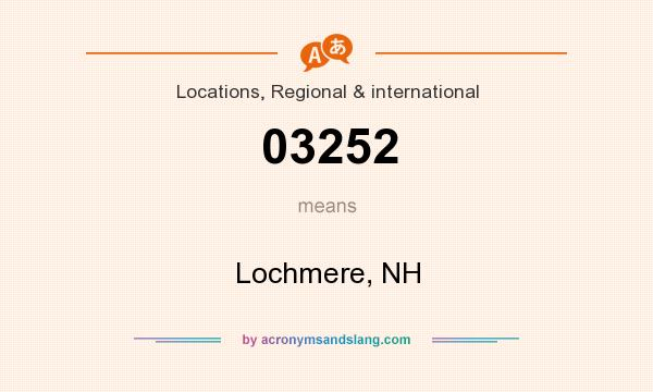 What does 03252 mean? It stands for Lochmere, NH
