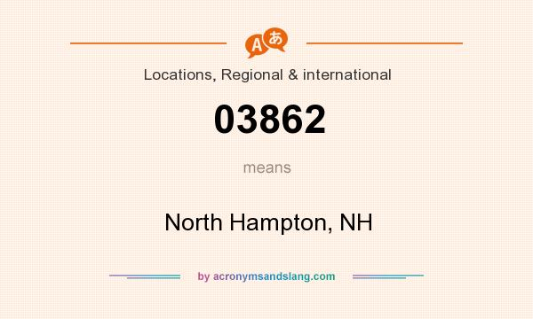 What does 03862 mean? It stands for North Hampton, NH