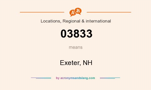 What does 03833 mean? It stands for Exeter, NH