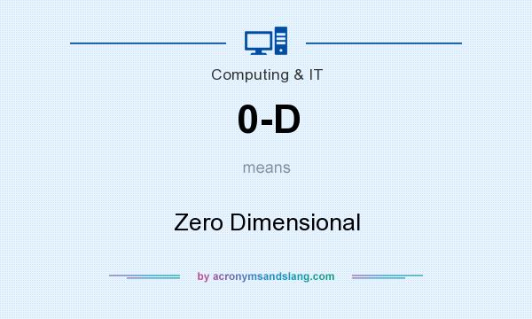 What does 0-D mean? It stands for Zero Dimensional