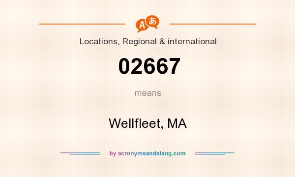 What does 02667 mean? It stands for Wellfleet, MA