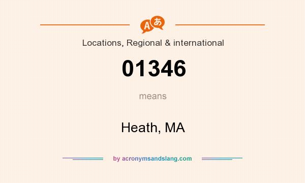 What does 01346 mean? It stands for Heath, MA