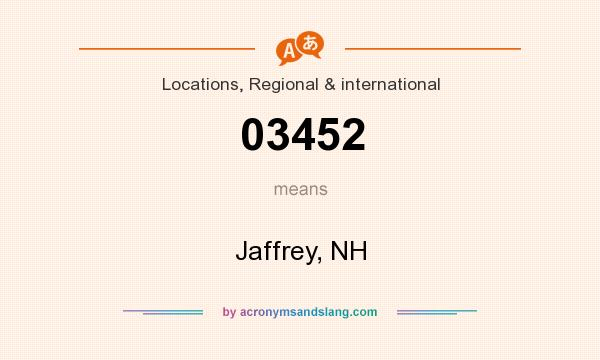 What does 03452 mean? It stands for Jaffrey, NH