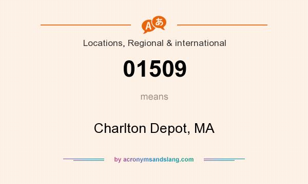 What does 01509 mean? It stands for Charlton Depot, MA
