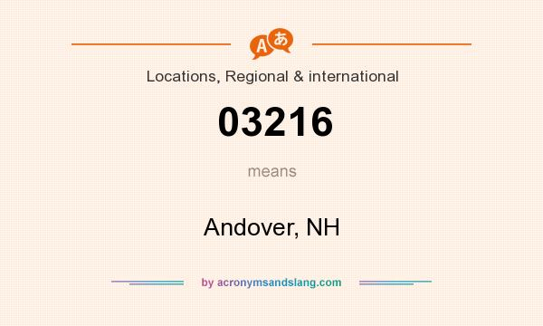 What does 03216 mean? It stands for Andover, NH