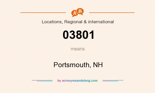 What does 03801 mean? It stands for Portsmouth, NH