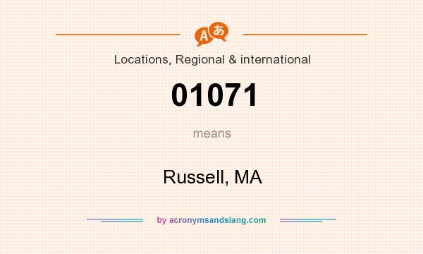 What does 01071 mean? It stands for Russell, MA