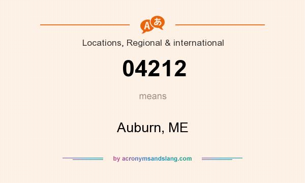 What does 04212 mean? It stands for Auburn, ME