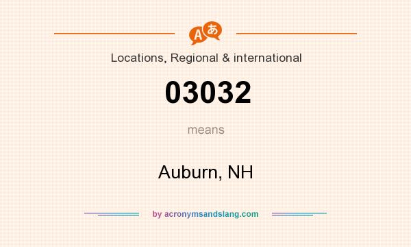 What does 03032 mean? It stands for Auburn, NH
