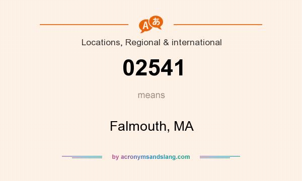 What does 02541 mean? It stands for Falmouth, MA