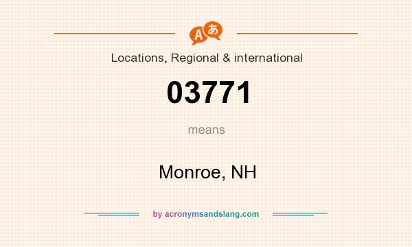 What does 03771 mean? It stands for Monroe, NH