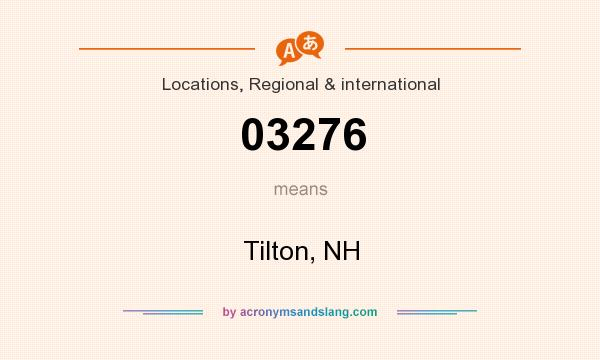 What does 03276 mean? It stands for Tilton, NH