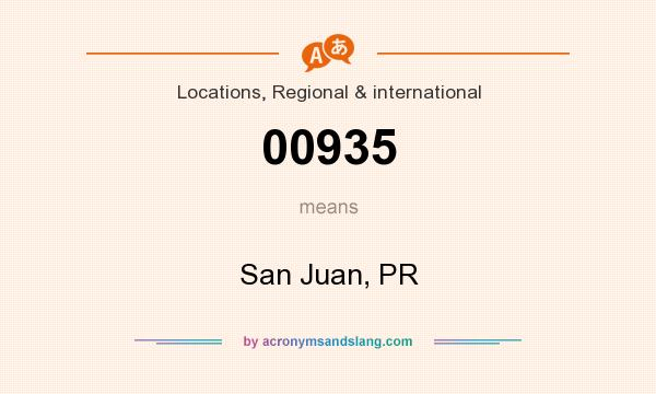 What does 00935 mean? It stands for San Juan, PR
