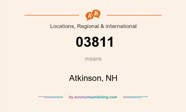 What does 03811 mean? It stands for Atkinson, NH