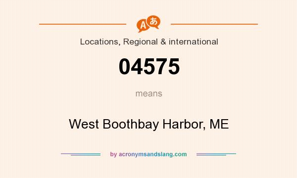 What does 04575 mean? It stands for West Boothbay Harbor, ME