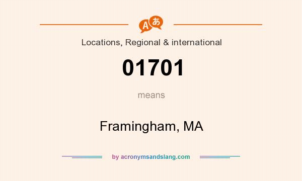 What does 01701 mean? It stands for Framingham, MA