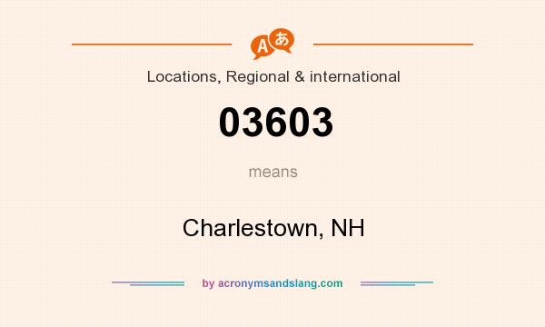 What does 03603 mean? It stands for Charlestown, NH