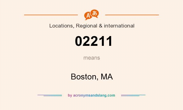 What does 02211 mean? It stands for Boston, MA