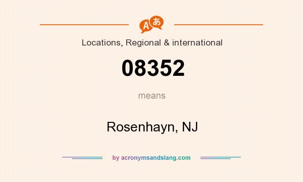 What does 08352 mean? It stands for Rosenhayn, NJ