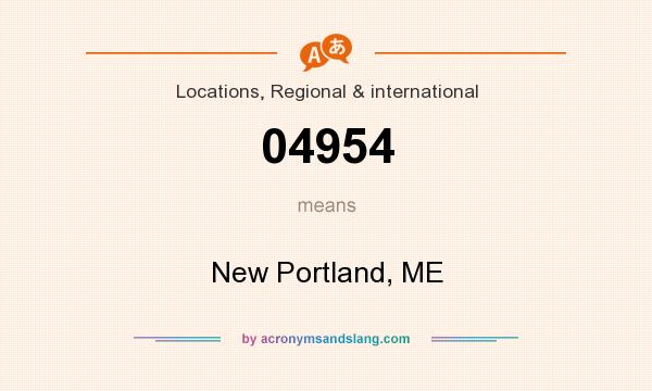 What does 04954 mean? It stands for New Portland, ME