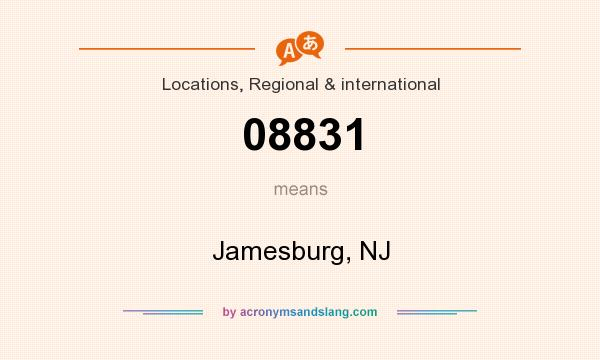 What does 08831 mean? It stands for Jamesburg, NJ
