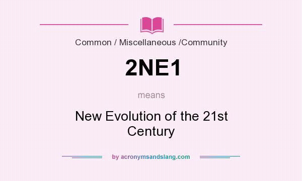What does 2NE1 mean? It stands for New Evolution of the 21st Century