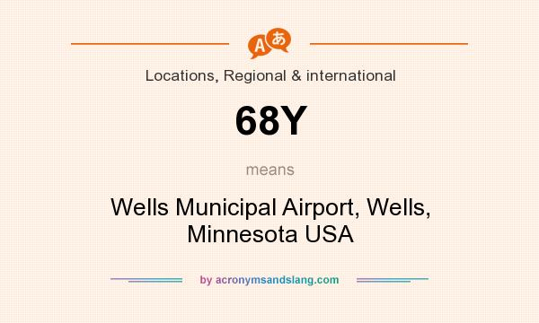 What does 68Y mean? It stands for Wells Municipal Airport, Wells, Minnesota USA